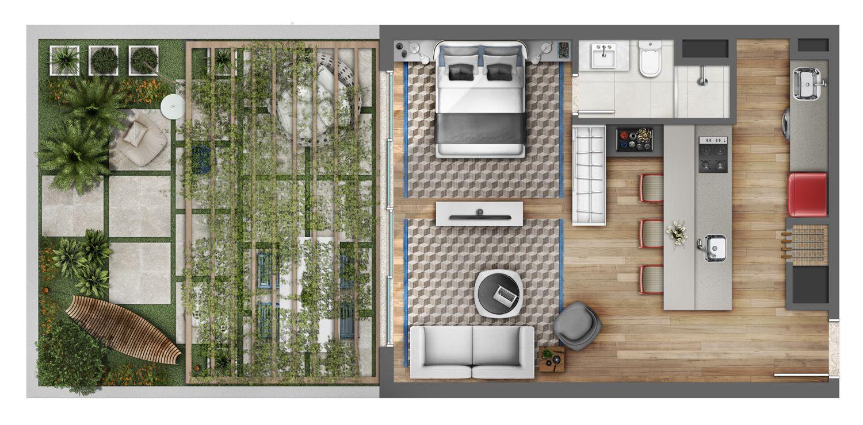 Estudiantes on pinterest floor plans tiny houses floor for Casa moderna 90m2