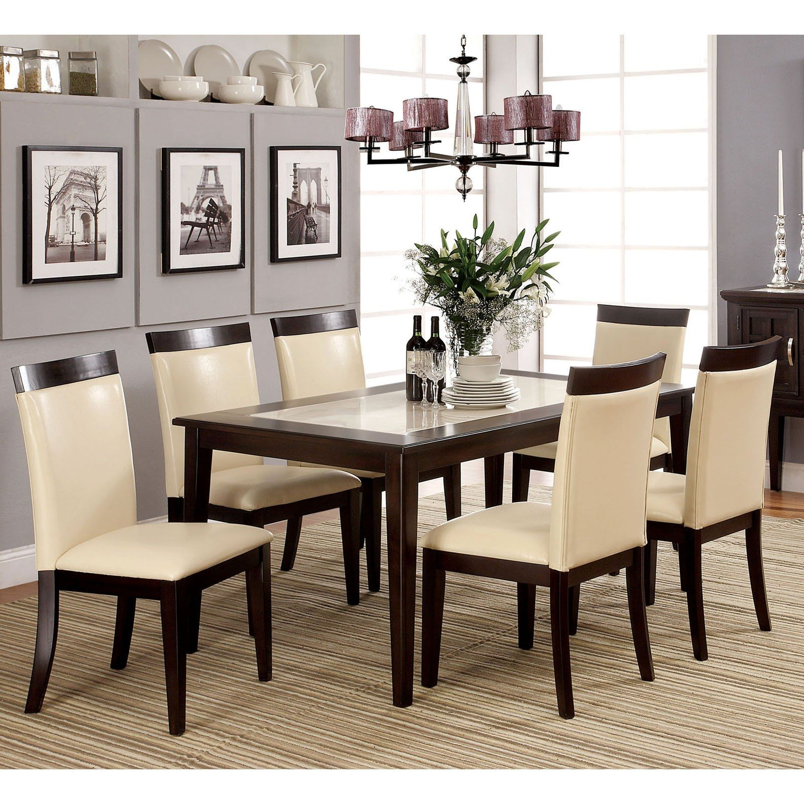 Mainstays 5 Piece Faux Marble Top Dining Set Walmart In Dimensions 3200 X  3200 Faux Marble Dining Room Table Set   It Seems Pretty Simple To Choose A  Dinin