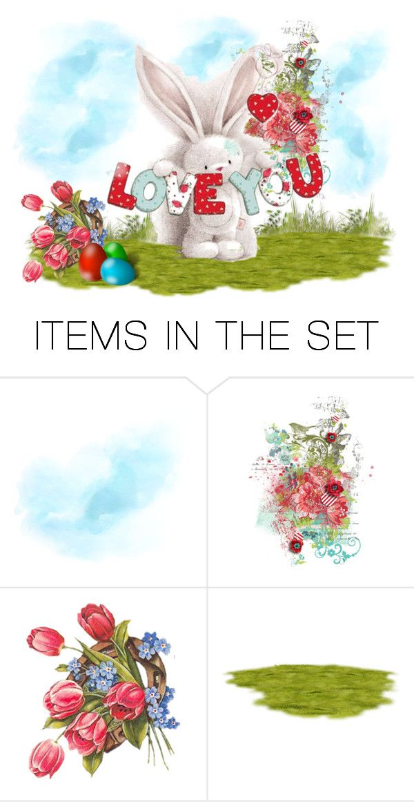 """""""Bunny Love"""" by sjlew ❤ liked on Polyvore featuring art"""
