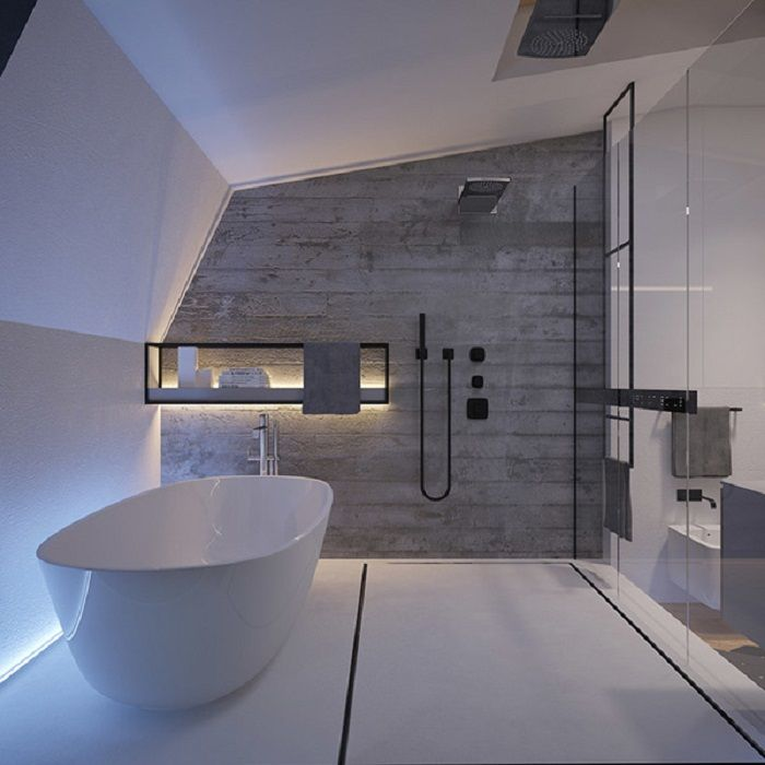 Imagenes baños con ducha y bañera preciosos House