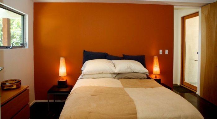 einrichtungsbeispiele holz orange braun #Design #dekor #dekoration