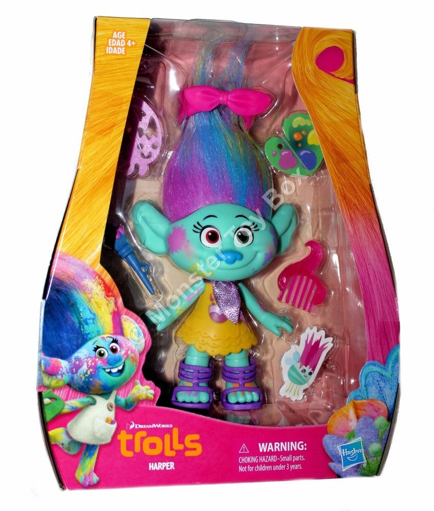 "14/"" Hasbro Poppy Talking Plush Doll Dreamworks Trolls Authentic US Seller"