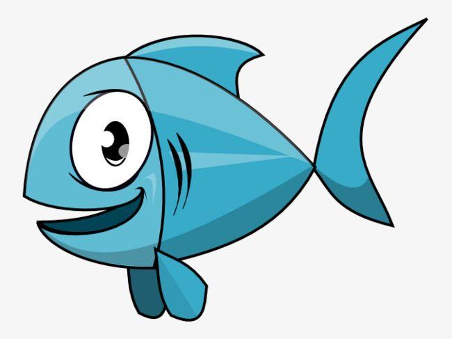 Blue Cartoon Fish Fisch Zeichnung Fisch Silhouette Niedliche Fische