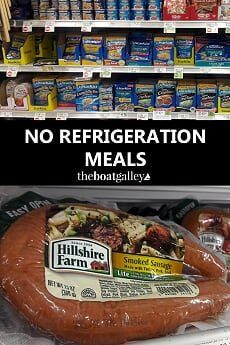 No Refrigeration Meals   The Boat Galley