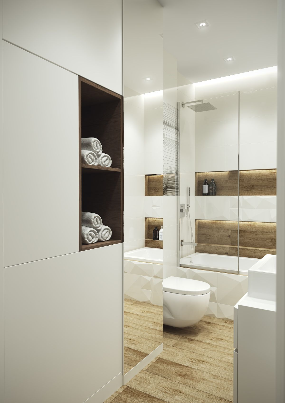 Cosy, elegant and functional bathroom which is only 4,5m2 ...
