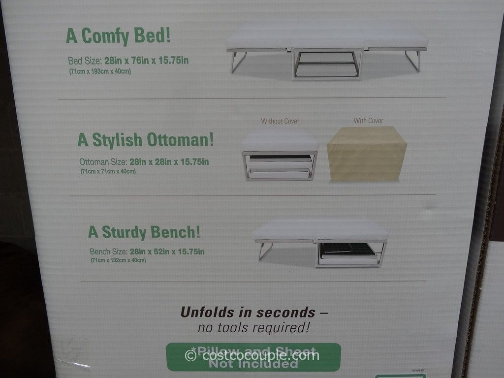 - Novaform Stowaway Folding Bed Costco Folding Beds, Comfy Bed