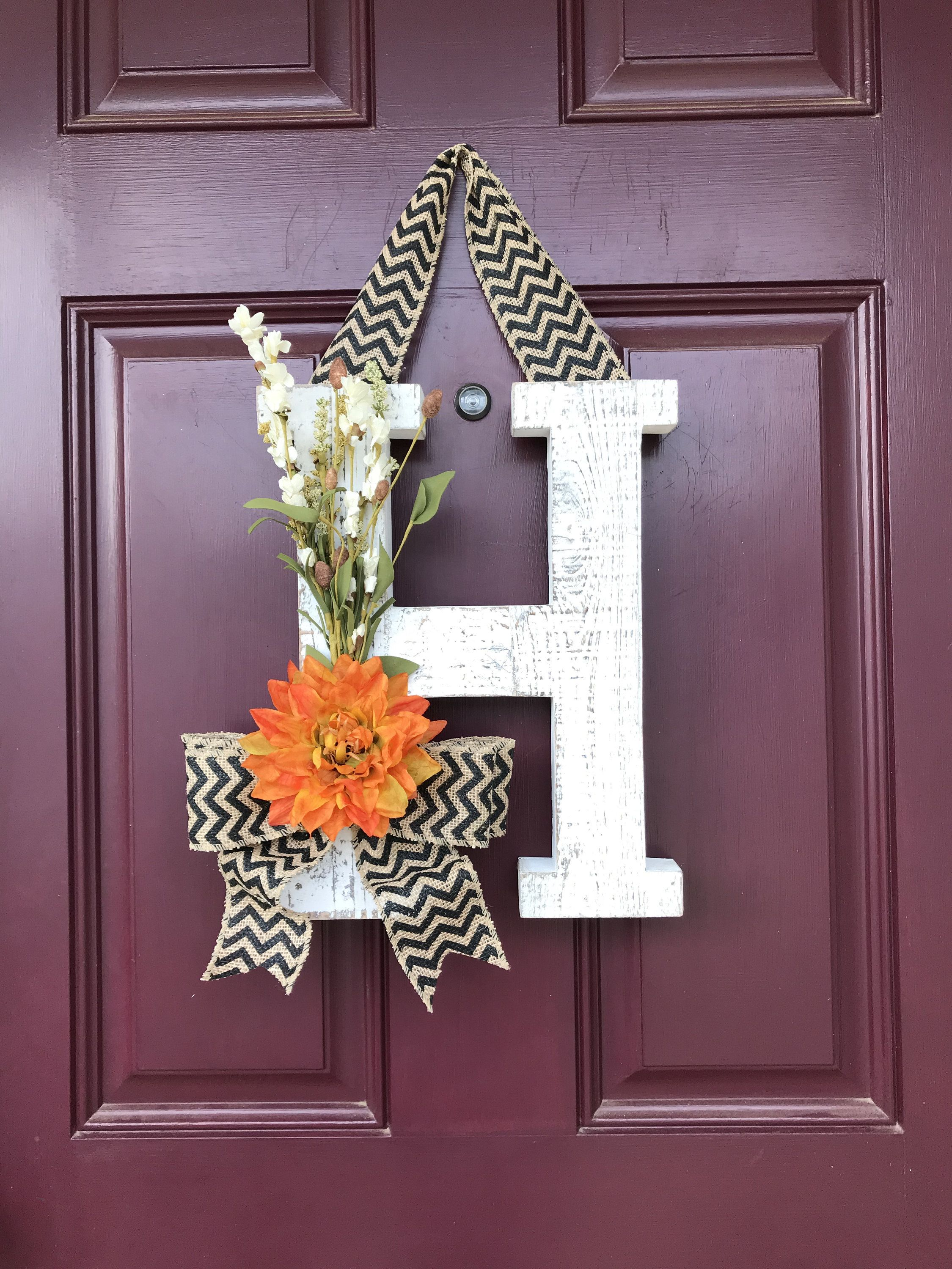Fall Front Door Wreath Whitewashed Letter Fall Letter Autumn Door Decor Fall Wreath Fall Decor Autumn Wreath Front Door Decor Wreath Autumn Wreaths For Front Door Easy Fall Wreaths Wreaths For