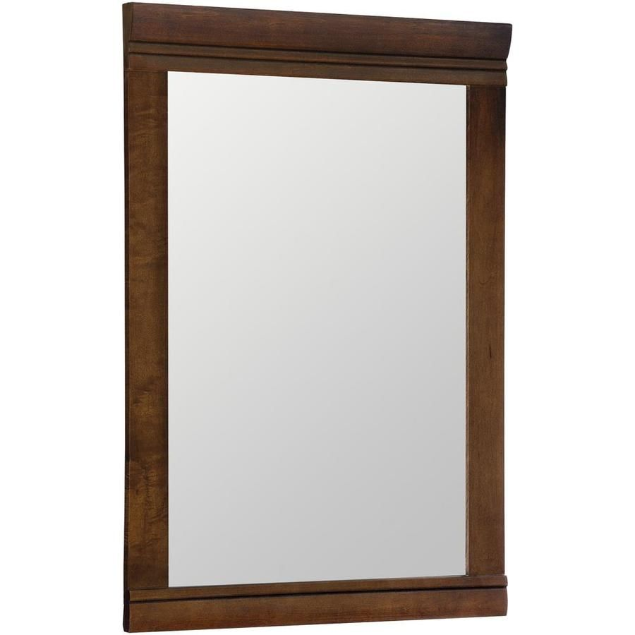 Style Selections Windell 20 5 In Auburn Rectangular Bathroom Mirror Lowes Com Rectangular Bathroom Mirror Bathroom Mirror Bathroom Vanity Mirror
