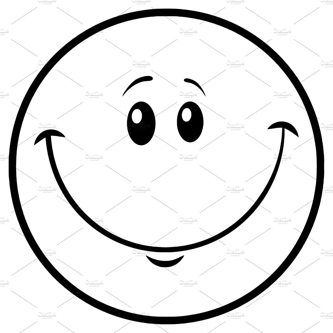 Black And White Smiley Face Emoji Cartoon Smiley Face Smiley Face Smiley