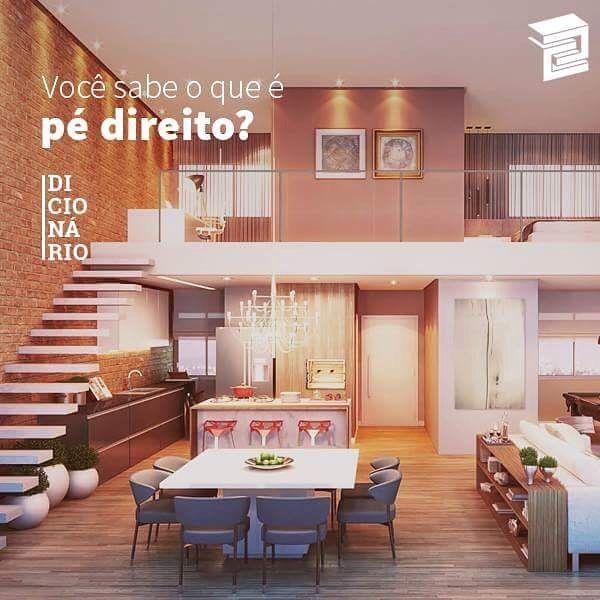É a altura que se dá entre o piso e o teto de um cômodo. #CRB #DicaCRB