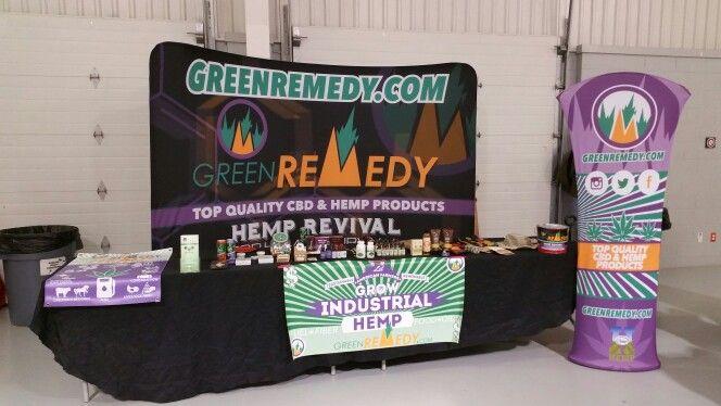 Green Remedy Booth at INHIA Hemp Symposium