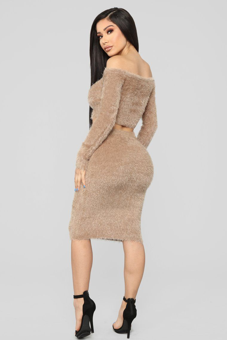 f9492359c5ad Feel The Fuzzy Skirt Set - Mocha, 2019 | EYE - CHATCHİNG CLOTHES FOR ...
