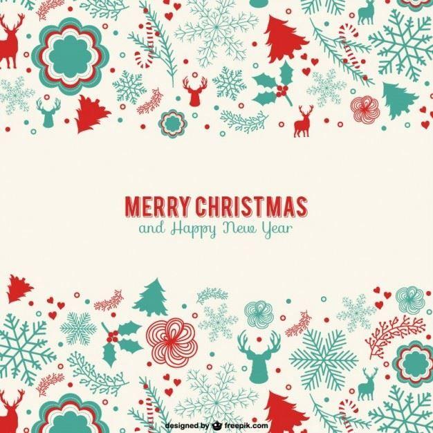 VintageMinimalistChristmasCard  Christmas    Xmas