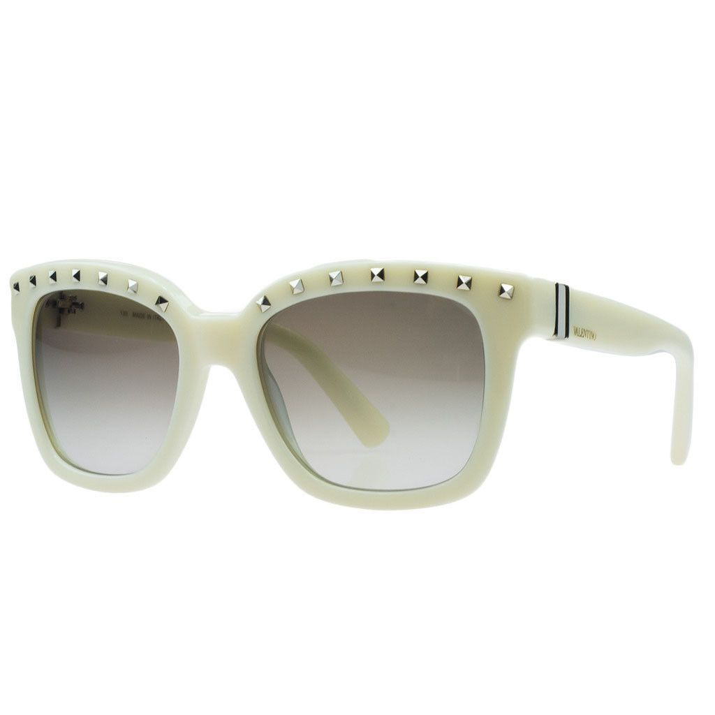 Valentino Ivory Square Sunglasses