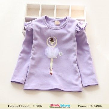 5a5a1936f6a9 Smart Lavender Baby Girls Top with Cut Dancing Diva