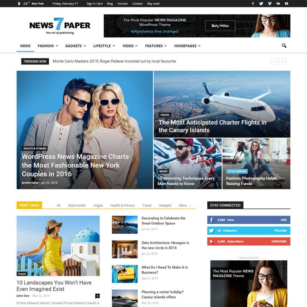 10 Best Responsive Wordpress News Magazine Themes 2018 Pinterest