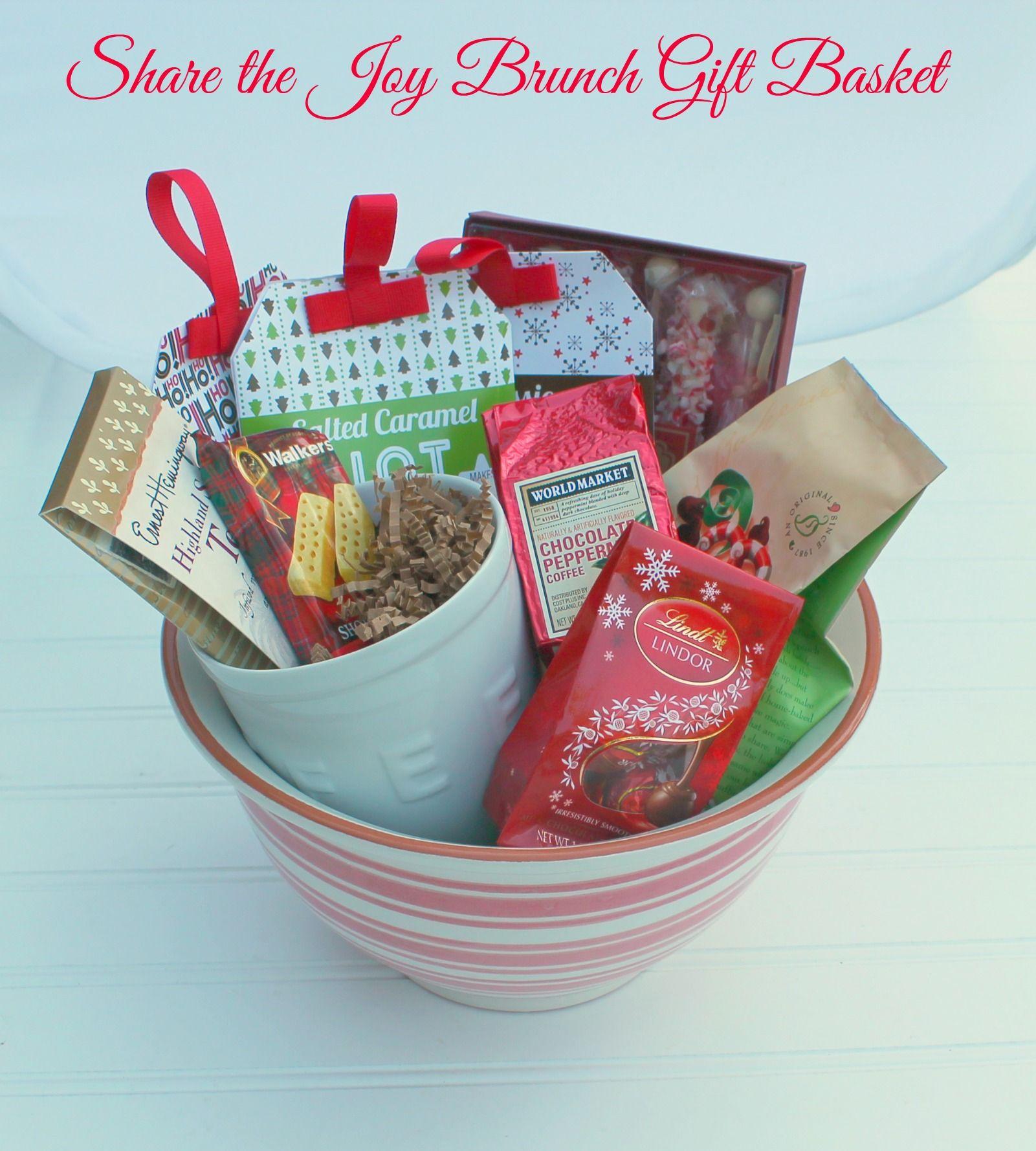 Make a christmas gift basket diy and sharethejoy basket ideas learn how to make a sharethejoywm brunch gift basket diy and learn how to negle Choice Image