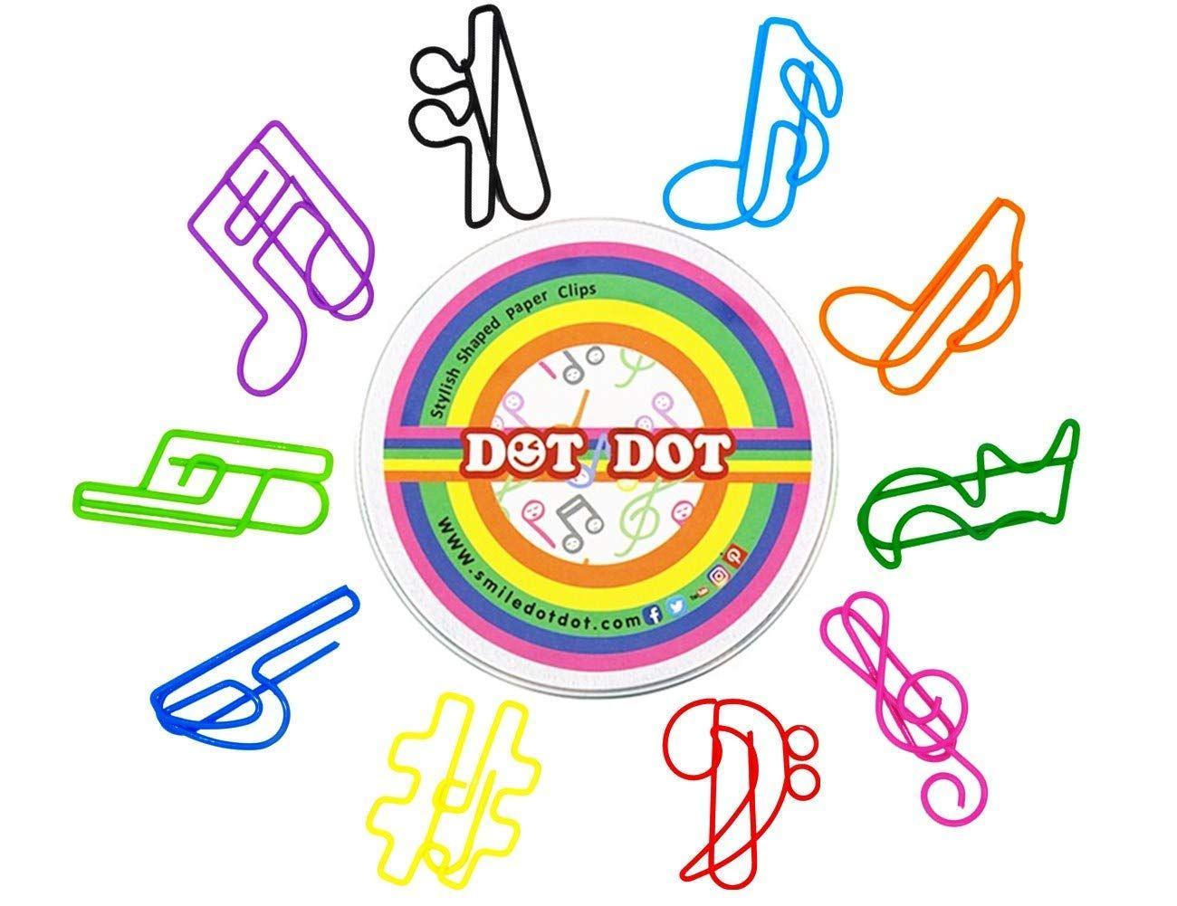 Dot Dot Music Paper Clips 80 Pcs Music Paper Musical Gift Music For Kids