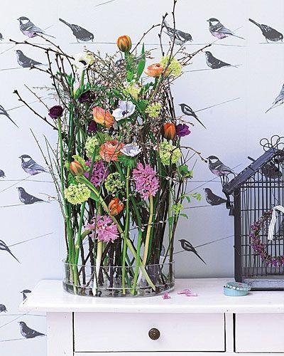 Blumen deko ideen für den frühling