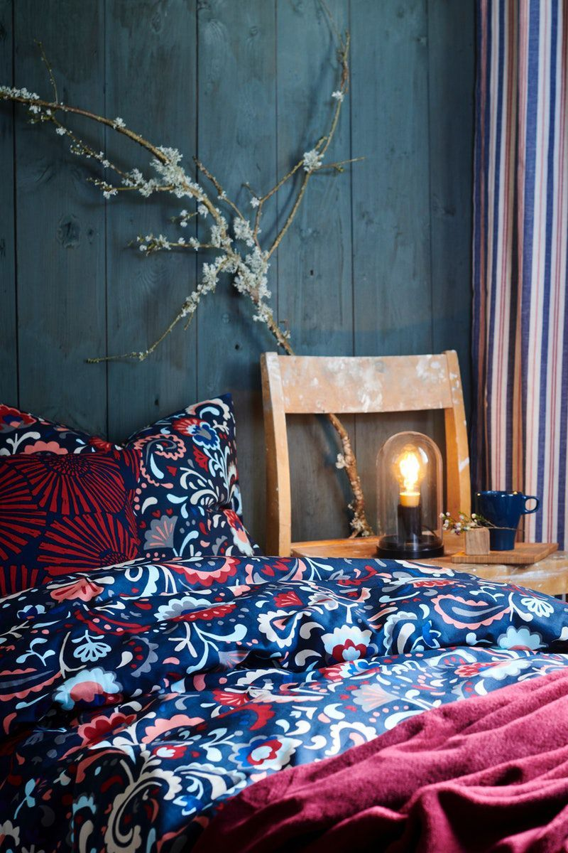 Artisan Inspired Floral Pattern Crat Bedding Ikea Germany Equipped With Kratten Bed Linen Winter Can C In 2020 Winter Interior Design Crate Bed Design Your Home