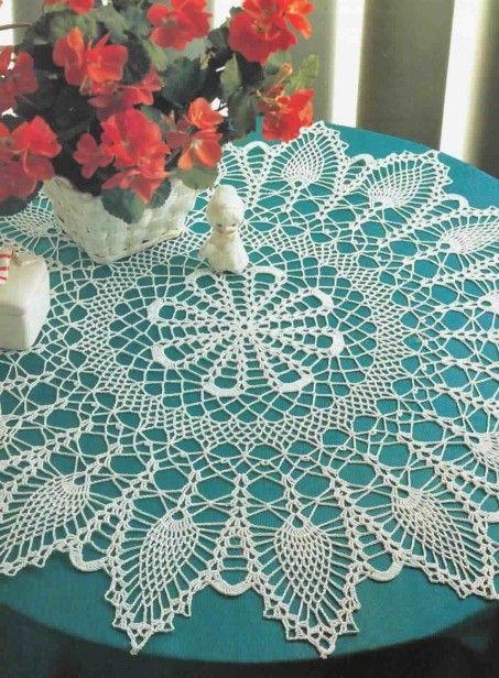 nappe aux motifs ananas | Crochet Projects | Pinterest | Deckchen ...