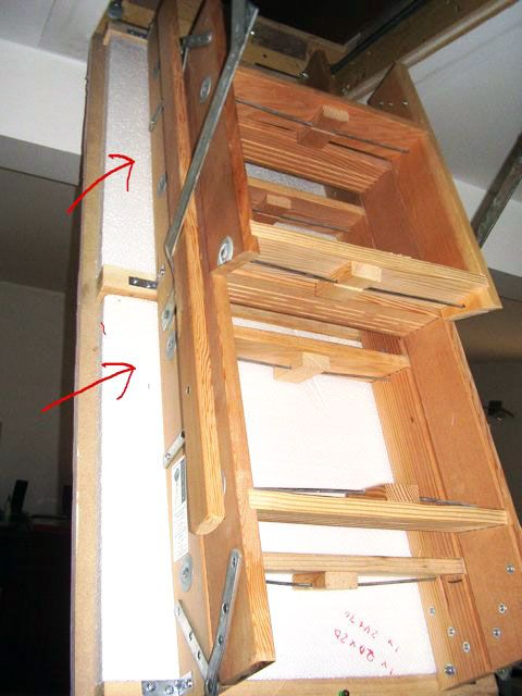 Our DIY attic door insulation project cost a mere $15-- see it step & Our DIY attic door insulation project cost a mere $15-- see it ...