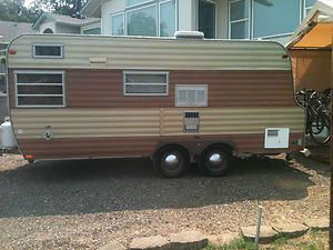 vintage 1973 22 foot mobile scout travel trailer near new condition on ebay in medford or. Black Bedroom Furniture Sets. Home Design Ideas