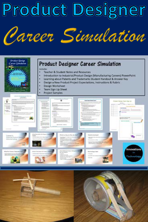product designer industrial designer career simulation manufacturing careers for middle school complete