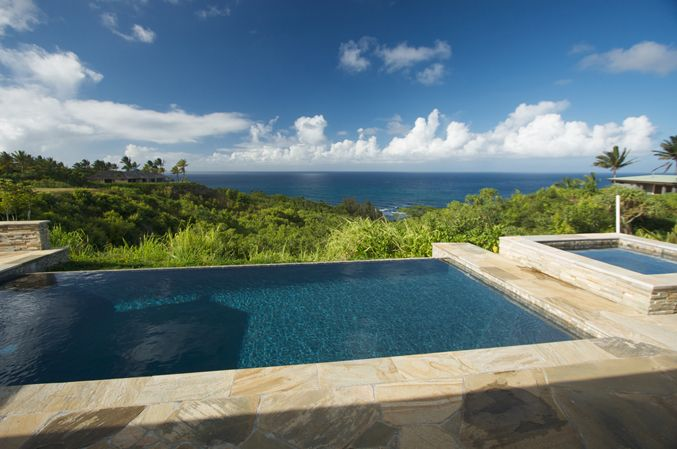 infinity pool backyard. Backyard Infinity Pool With Great View O