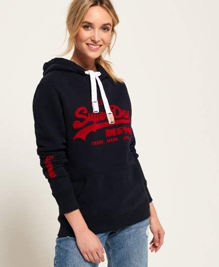 best sneakers 53a5d 8a754 Vintage Logo Emboss Flock Hoodie | Products in 2019 ...