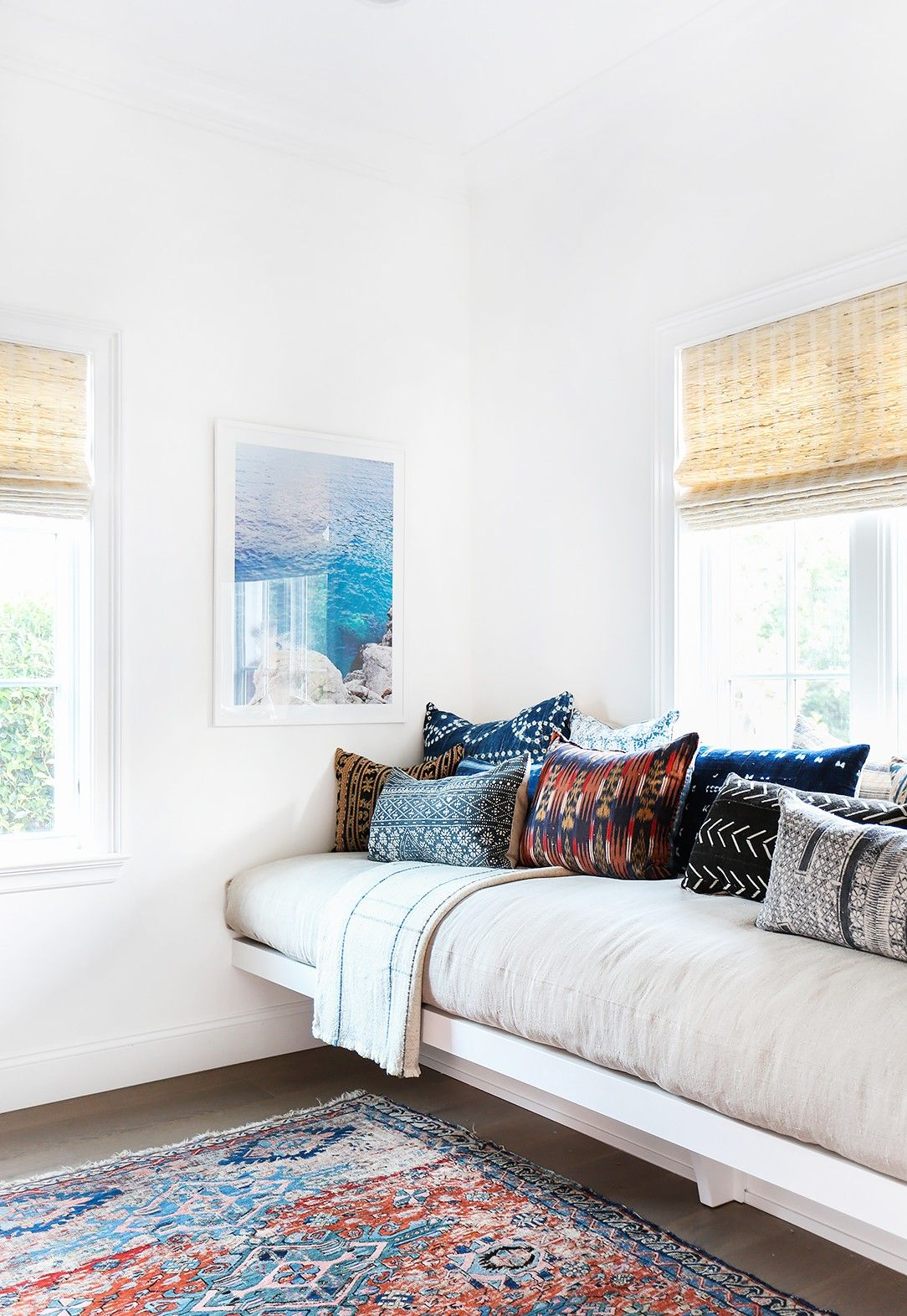 Modern Day Bedrooms Home Tour A Modern Bohemian Family Abode Built Ins Day Bed And