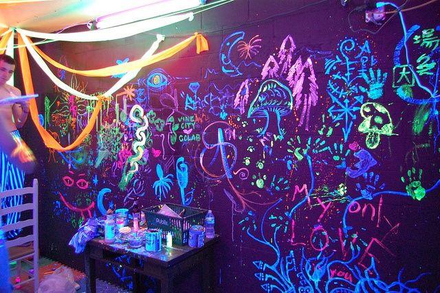 Neon Art Black Light Black Lights Bedroom Black Light Room Hippy Room