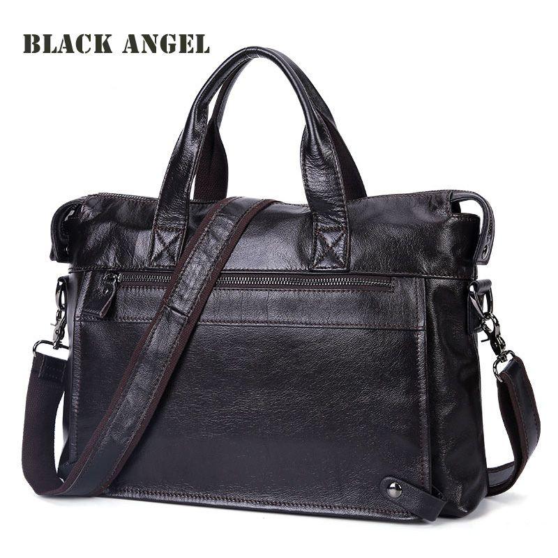Cowhide Genuine Leather Men messenger bags business Laptop briefcase Bag  fashion Men handbag Shoulder Men Travel faa9fb6d61