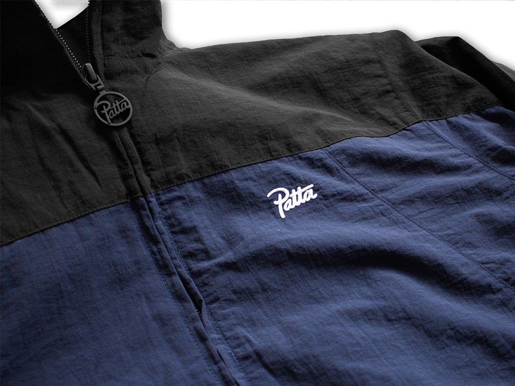 Patta Nylon Logo Track Suit (Navy/Black) - PATTA TRACKSUIT COLLECTION - COLLECTIONS