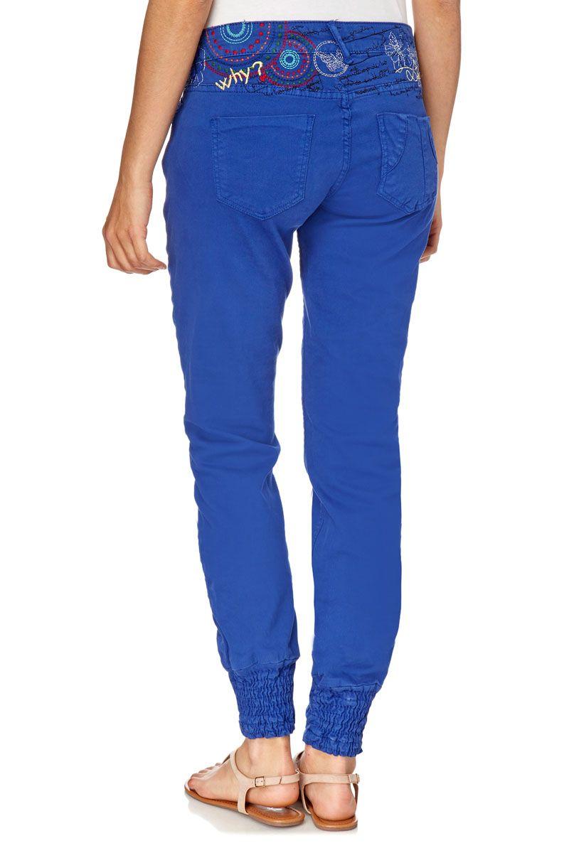 Venda Desigual / 24862 / Pronto-a-vestir / Calças ganga e calças / Calças de ganga slim Azul rei
