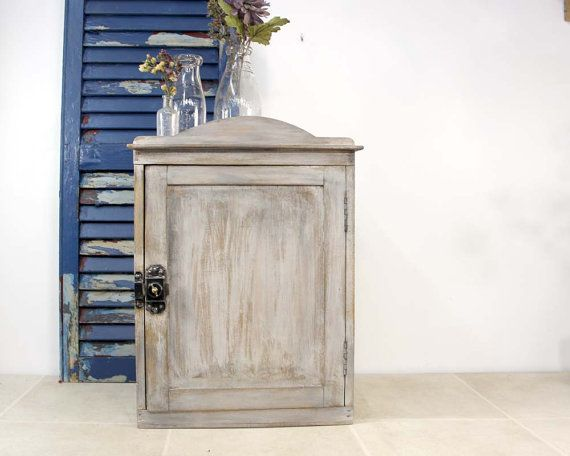 Vintage Wall Cabinet / Shabby 3 Shelf by ConceptFurnishings, $78.00