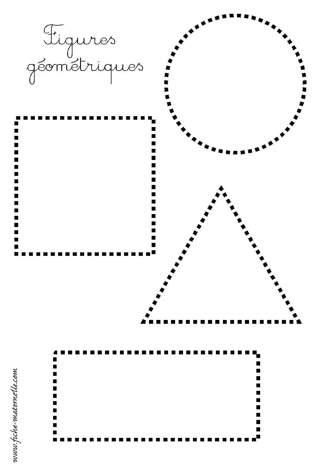Les Figures Geometriques Repasser Les Pointilles
