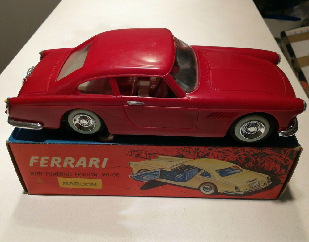Rare Hong Kong China Toy Ferrari Car 250 Gte Friction Wtoys Clifford Series 1960 Ebay Toys Toy Car Metal Toys