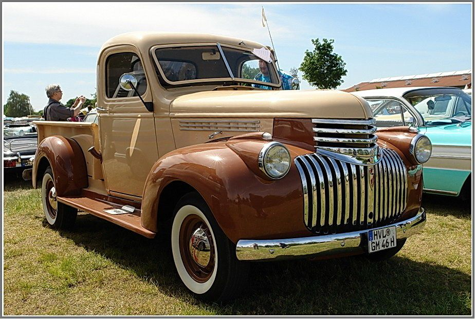 photo 1946 chevy truck chevrolet pickup bauj1946 6 zyl. Black Bedroom Furniture Sets. Home Design Ideas