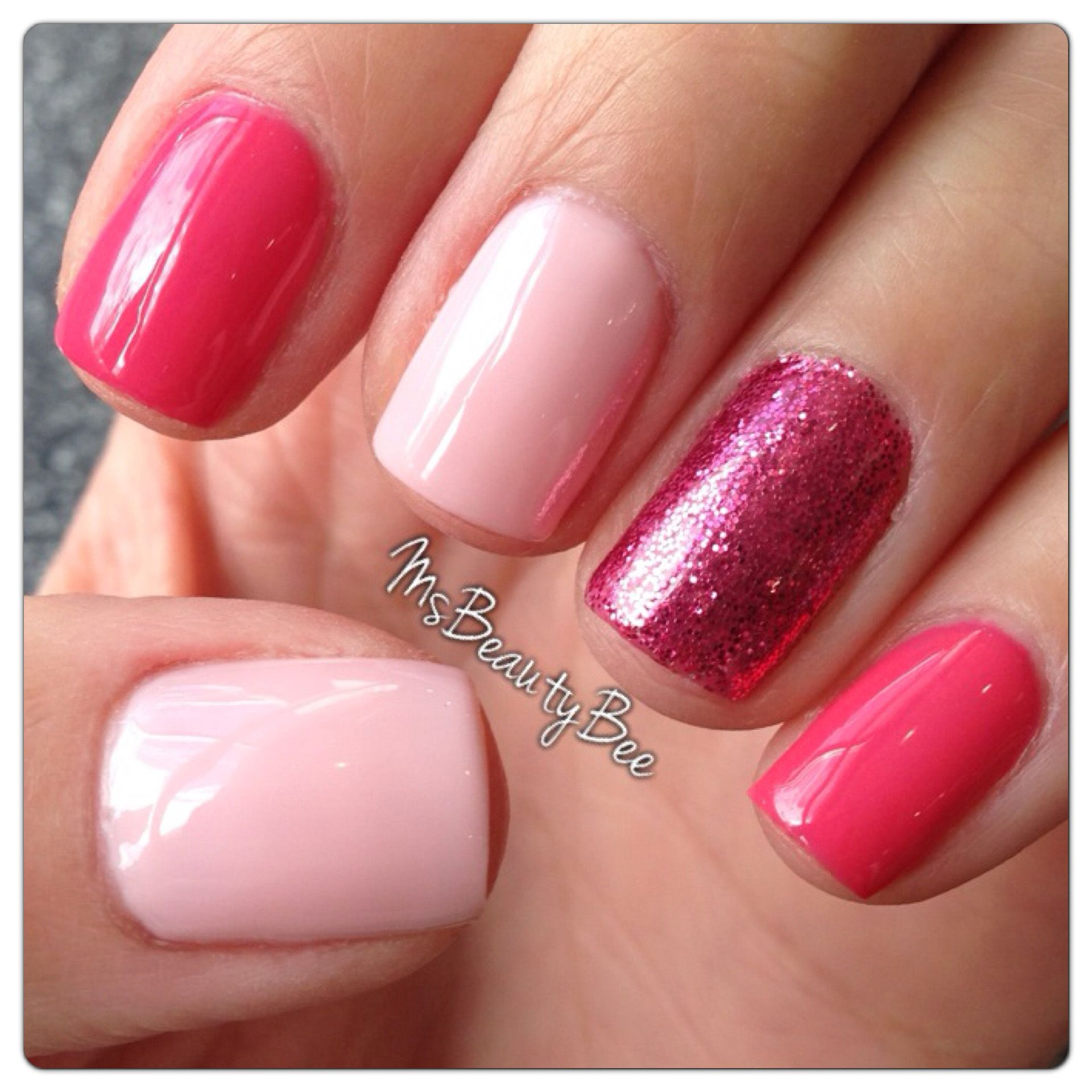 Strawberry Shortcake Pink Nails. Colors used: Gelish - Passion ...