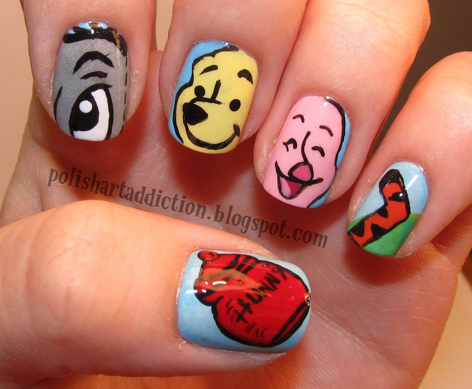 Winnie the Pooh is always close at hand | Nails | Pinterest ...