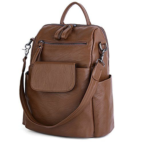 UTO Women Backpack Purse 3 ways PU Washed Leather Ladies ... https ...