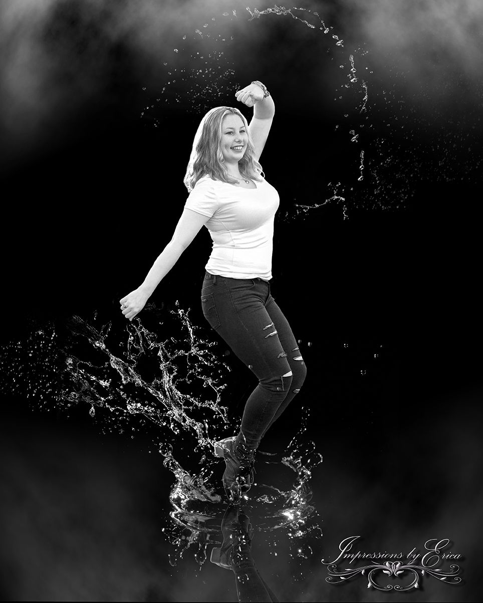 Artistic Senior portraits  tap dancing ideas  dancing on water  making a  splash photography  creative water portraits  Impressions by Erica 19716255ff8e