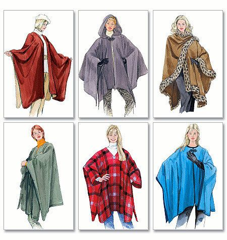 Ruana or Poncho Pattern for Ladies - McCalls 3448 - New Sewing ...