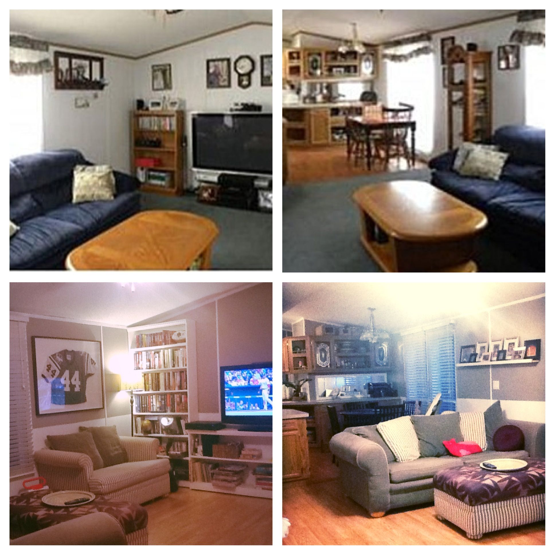 Mobile Home Interior Decorating: Before And After Makeover Pictures Of Our Single Wide