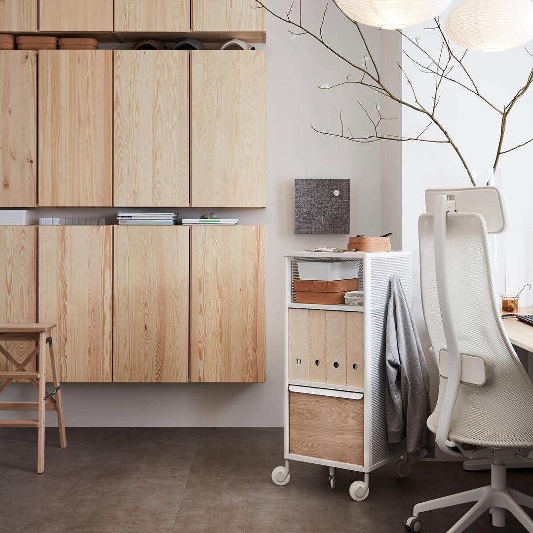Ikea France On Instagram Le Bois Massif S Invite En Open Space Pour Une Ambiance De Travail Zen Et Naturel Ikea Interieur Ikea Mobilier De Salon