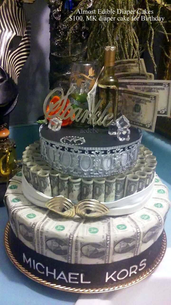 100 Mk Money Cake For Birthday Gift Almost Edible Diaper Cakes