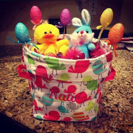 "THINK OUTSIDE THE BASKET ~ This Mini Utility Bin will come in handy long after the last ""Peep"" has been eaten! Perfect for storing small toys, legos, art supplies, bath stuff, you name it. Plus you can put your child's name on it!"