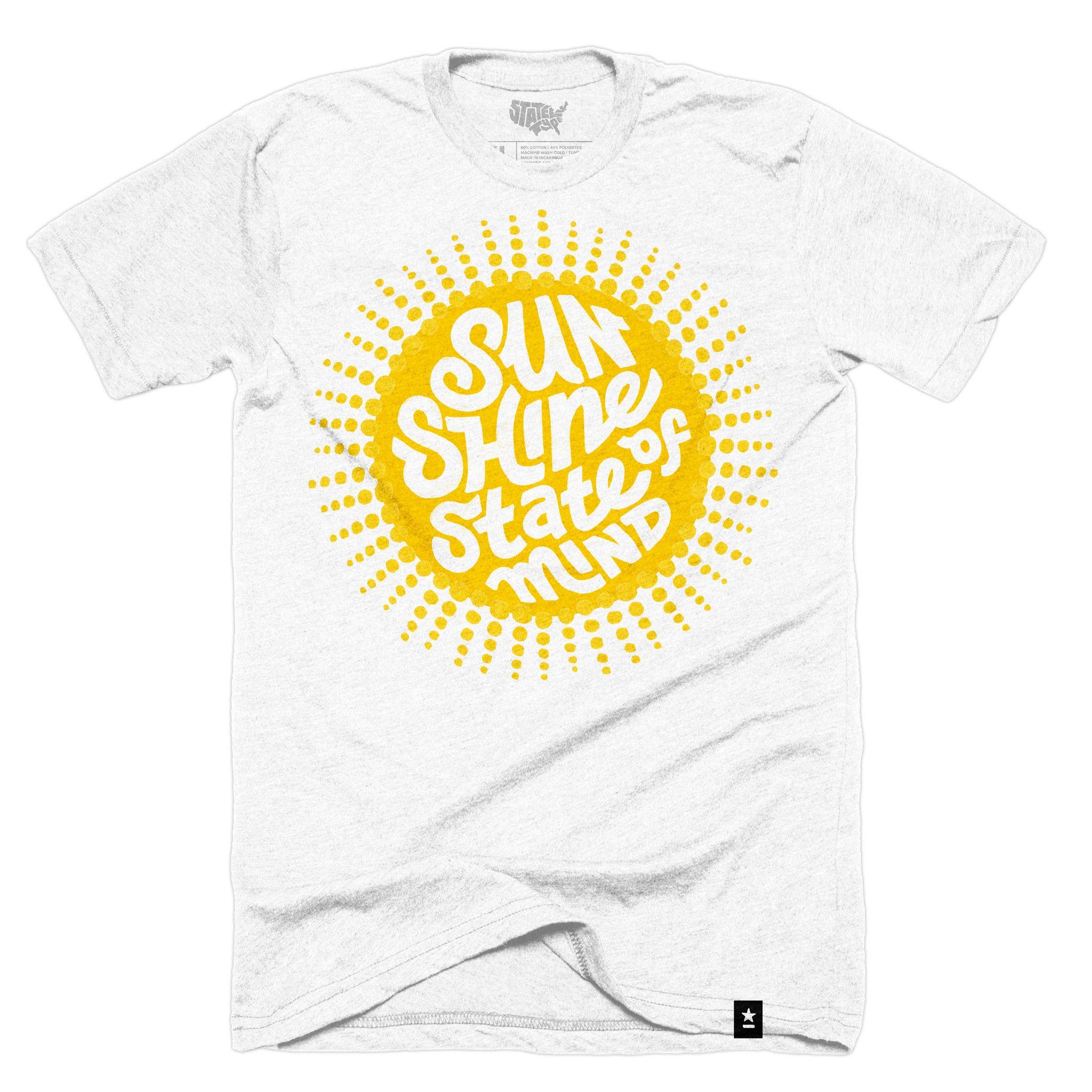 Florida Sunshine State Of Mind T Shirt Shirt Ideas Pinterest