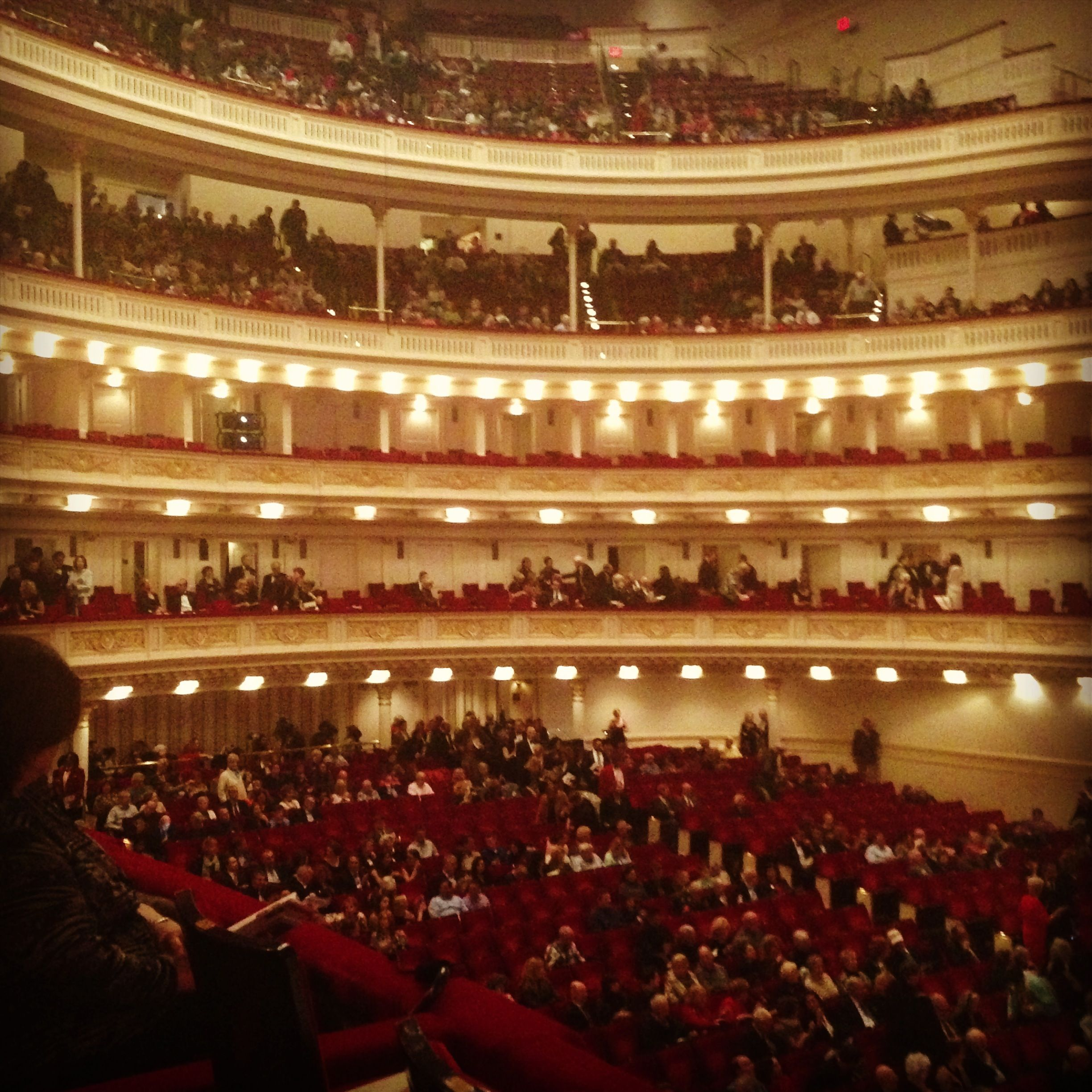 Carnegie Hall view from the second tier Carnegie Hall Trip Pinterest